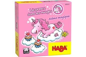 Jeux en famille HABA Haba licorne mémoire carton brillant junior 32 pièces (fr)