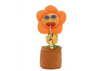 Poupées Hsmy Sunflower funny music plush toy for kids adult pets,66 songs orange