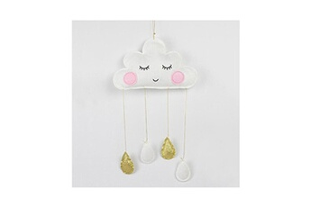 Poupées Hsmy Clouds wall hanging room decorations white gold