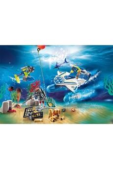 Figurines animaux PLAYMOBIL Playmobil 70776 - city action calendrier de l'avent jeu de bain policiers mission aquatique