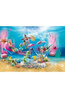 Figurines animaux PLAYMOBIL Playmobil 70777 - calendrier de l'avent jeu de bain le monde des sirènes
