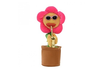 Poupées Hsmy Sunflower funny music plush toy for kids adult pets,66 songs rosered