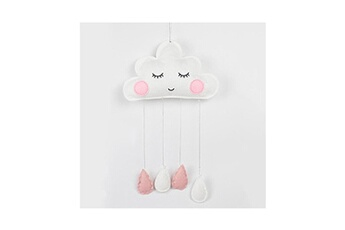 Poupées Hsmy Clouds wall hanging room decorations white pink