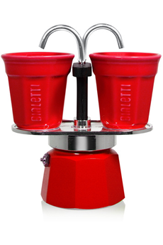 Cafetière italienne ou à piston SET MINI EXPRESS ROUGE 6190 Bialetti