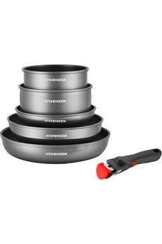 Casserolerie Kitchen Cook Batterie de cuisine 6PCS avec poignée amovible TFI