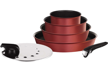 Casserole INGENIO PERFORMANCE ROUGE VELOURS SET 6 PIECES Tefal