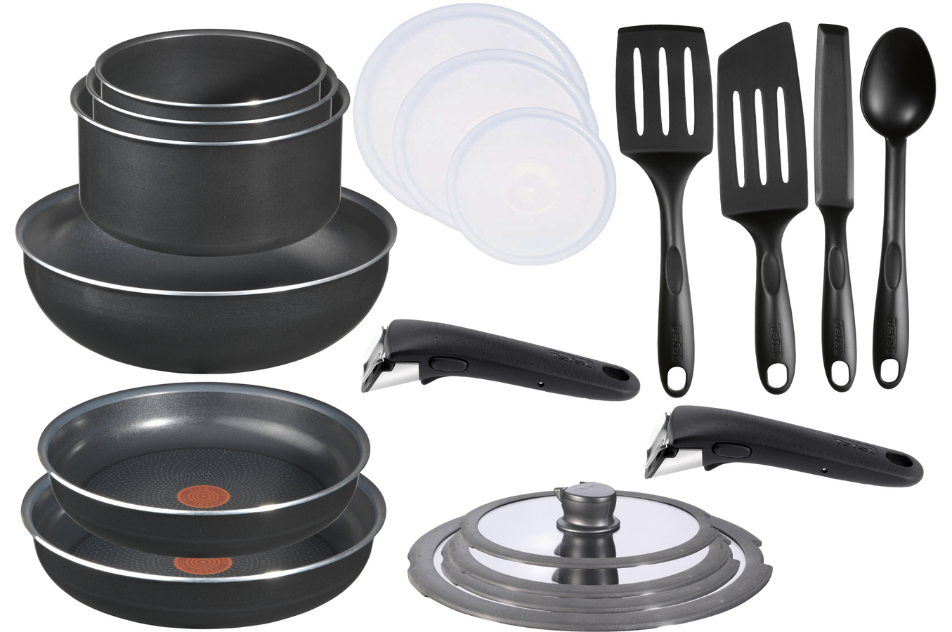 Casserole tefal ingenio 5 ptfe 20 pieces l0361405 set - Batterie de cuisine pour plaque a induction ...