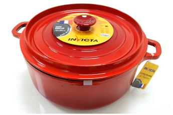 cocotte faitout marmite cocotte fonte ronde 26 cm rubis invicta - Faitout Induction Carrefour