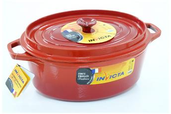 cocotte faitout marmite cocotte fonte ovale 31 cm rubis invicta - Faitout Induction Carrefour