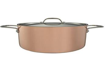 Cocotte / faitout / marmite Faitout cuivre 24 cm, 5L - Couvercle et intérieur en inox John Lewis
