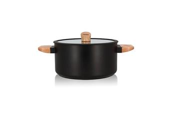 Cocotte / faitout / marmite Ogo FAITOUT ECTOR INDUCTION EN ALUMINIUM ET BOIS 24 CM