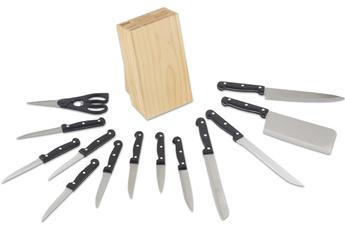 Accessoire de découpe Kitchen Cook Bloc couteau en bois
