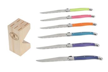 Couteau BLOC + 6 COUTEAUX LAGUIOLE Laguiole