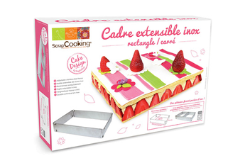 Plat / moule CADRE RECTANGLE EXTENSIBLE Scrapcooking
