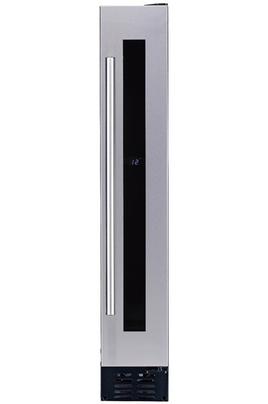Capacité 7 bouteilles Froid ventilé - Amplitude de fonctionnement : 5 à 22°C Dimensions HxLxP : 88 x 14.8 x 57 cm Porte vitrée anti-UV