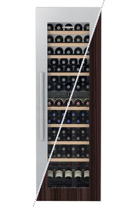 Cave mixte 2 zones Capacité de 80 bouteilles - 9 clayettes en bois Dimensions HxLxP : 178x56x55 cm Régulation par air brassé - Habillage en option