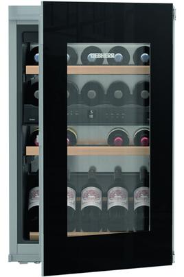 Cave mixte 2 zones Capacité 33 bouteilles - 2 clayettes en bois Dimensions HxLxP : 88 x 56 x 55 cm Régulation par air brassé