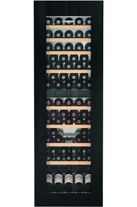 Cave mixte 2 zones Capacité de 83 bouteilles - 9 clayettes en bois Dimensions HxLxP : 178 x 56 x 55 cm Régulation par froid brassé
