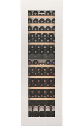 Cave mixte 2 zones Capacité de 83 bouteilles - 9 clayettes en bois Dimensions HxLxP : 177 x 55.9 x 54.4 cm Régulation par froid brassé