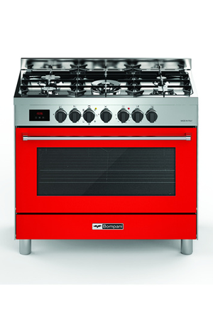 Piano de cuisson bompani btech90rg btech90rg rouge darty - Piano de cuisson rouge ...