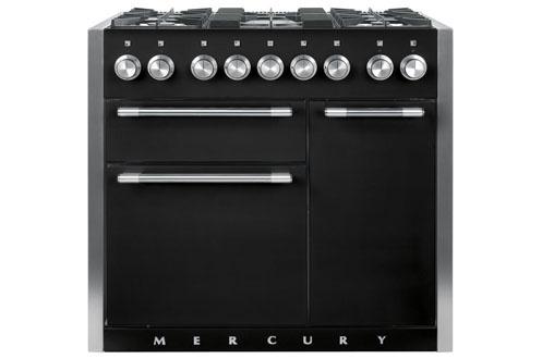 Piano MERCURY MIXTE 100cm  Dessus GAZ Noir cendré - MCY1000DFMB/-EU