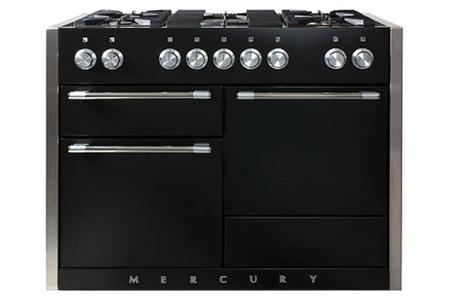 Piano de cuisson falcon mercury mixte 120cm dessus gaz - Piano de cuisson noir ...