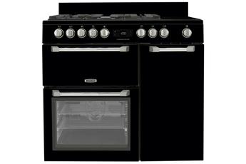 Piano de cuisson Leisure CUISINEMASTER PRO 100cm gaz et vitro Noir - PR100F560K