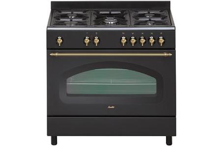 piano de cuisson sauter scm690e retro noir scm690e darty. Black Bedroom Furniture Sets. Home Design Ideas