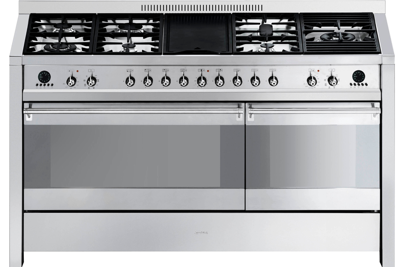 Piano de cuisson smeg elite a5 8 inox 4014871 darty for Piano de cuisine smeg