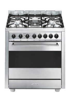 Largeur 70 cm - Table gaz 5 foyers jusqu'à 4000 W Nettoyage Vapor Clean Four multifonctions double chaleur tournante