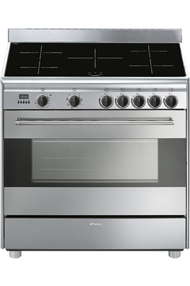 Piano de cuisson Smeg ESTHETIQUE SEMI PROFESSIONNELLE 90cm INDUCTION INOX - BG91IX9