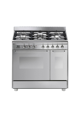 Piano de cuisson smeg cg92px9 inox 3603652 for Piano de cuisson pyrolyse
