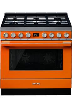Piano de cuisson Smeg PORTOFINO 90cm MIXTE ORANGE - CPF9GMOR