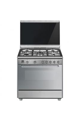 Largeur 90 cm - Table de cuisson gaz 5 foyers jusqu'à 4000 W Capacité du four 115 L - Nettoyage Vapor clean Four cuisson multifonction double chaleur tournante