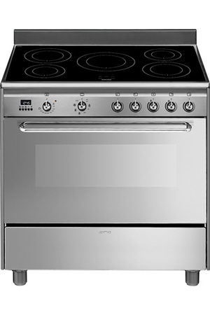 Piano de cuisson smeg scd90imx9 inox darty for Piano de cuisine smeg
