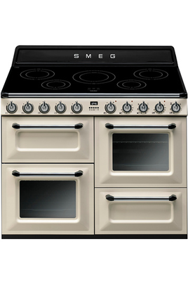 Piano de cuisson Smeg VICTORIA 110cm INDUCTION CREME - TR4110IP