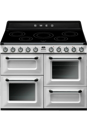 piano de cuisson smeg victoria 110cm induction blanc tr4110iwh darty. Black Bedroom Furniture Sets. Home Design Ideas