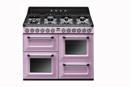 piano de cuisson smeg victoria 110cm mixte rose tr4110ro darty. Black Bedroom Furniture Sets. Home Design Ideas