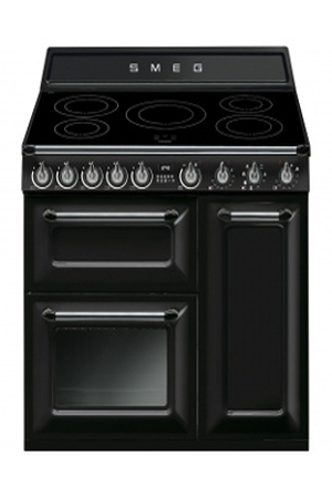 piano de cuisson smeg victoria 90cm induction noir tr93ibl darty. Black Bedroom Furniture Sets. Home Design Ideas