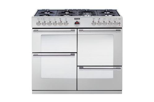 Cuisinière 110 cm de large 4 fours 7 brûleurs gaz dont un wok Sécurité par thermocouple