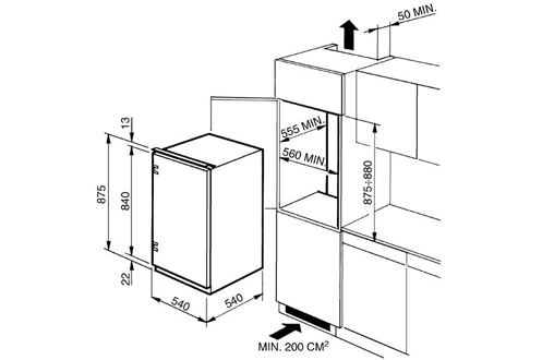 Congélateur encastrable VI144AP1 Smeg