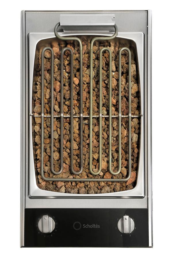 Cuisson sp cifique scholtes mbn 30 l inox 3186253 darty - Plaque grill encastrable ...