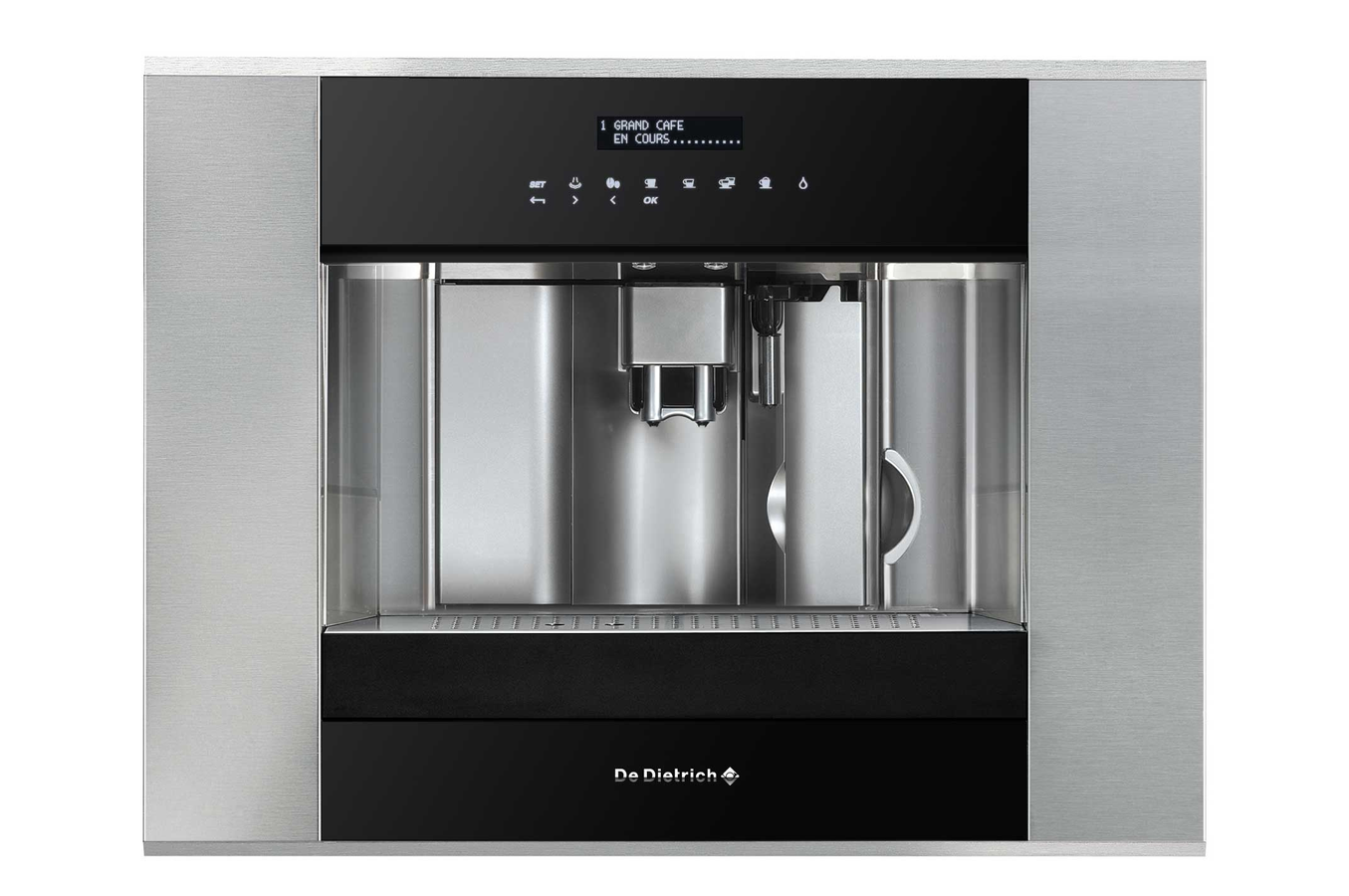 machine caf encastrable de dietrich ded1140x noir inox. Black Bedroom Furniture Sets. Home Design Ideas