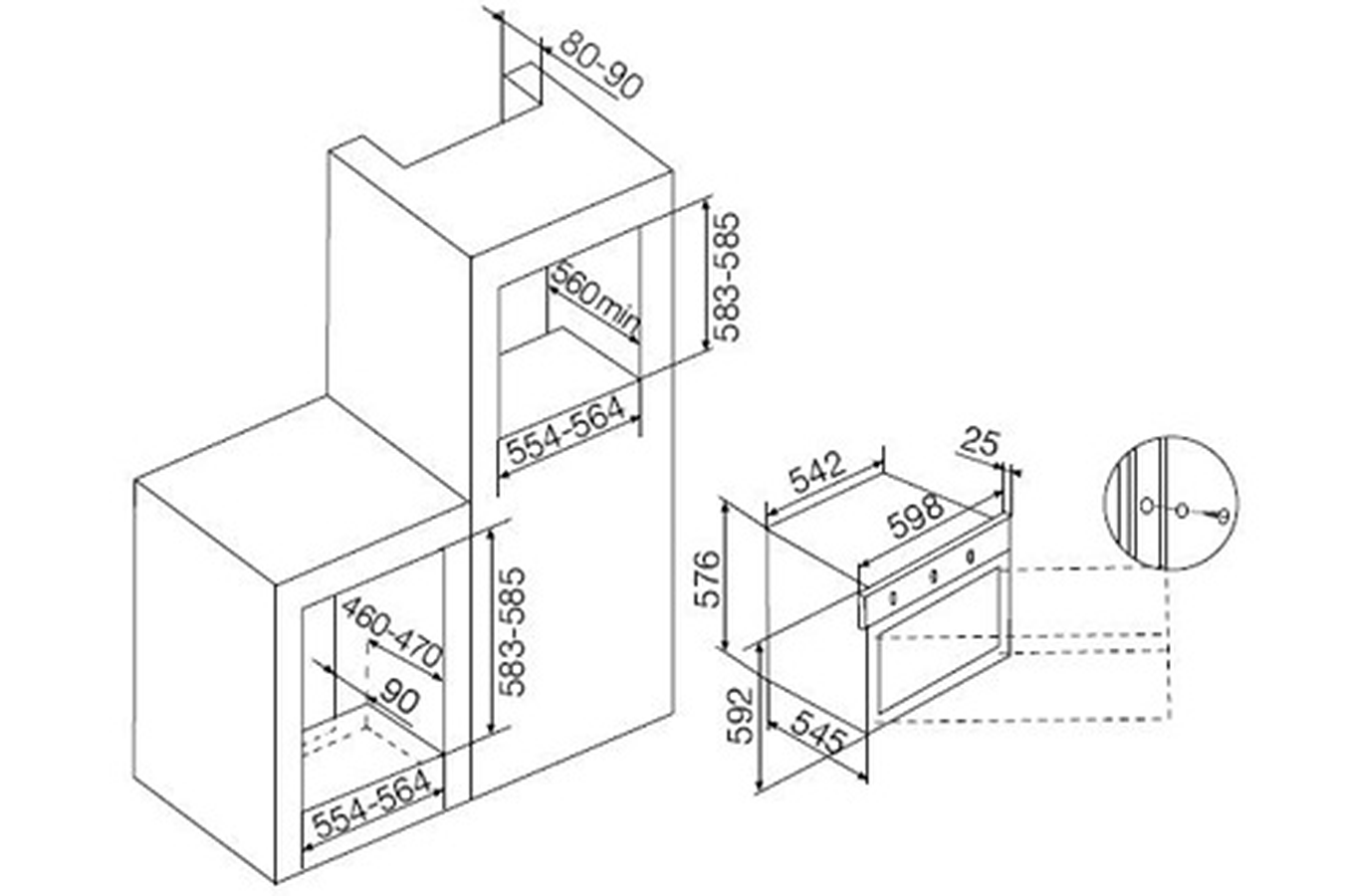 four encastrable airlux afscw21bkn 3773655 darty. Black Bedroom Furniture Sets. Home Design Ideas