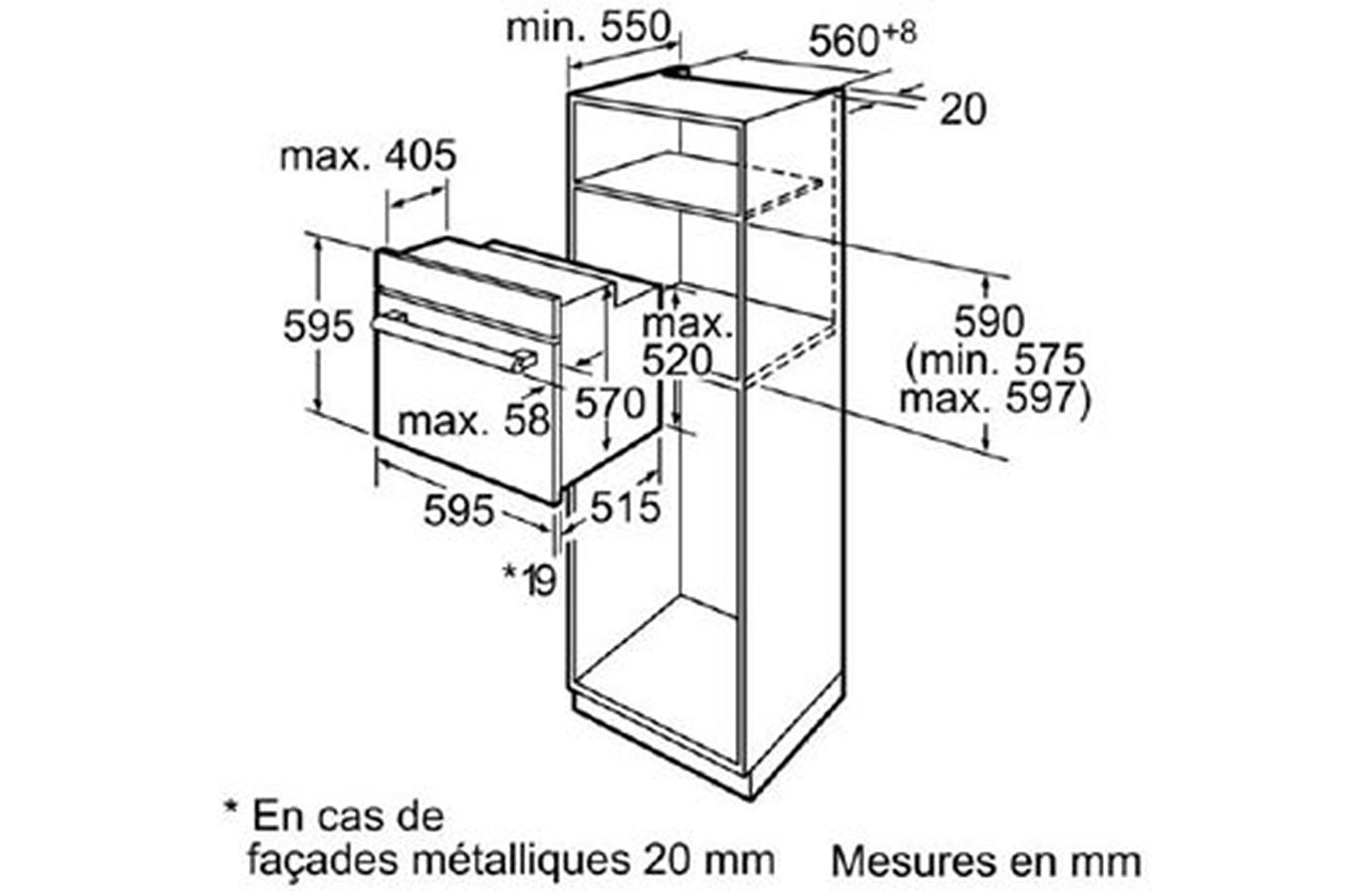 Four encastrable Bosch HBA64B262F NOIR (4242002694764)