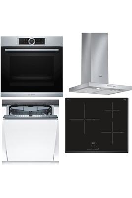 Four HBG673BS1F Plaque de cuisson PUJ651BB1E Hotte DWBO67A52 Lave-vaisselle intégrable 46KKX05E