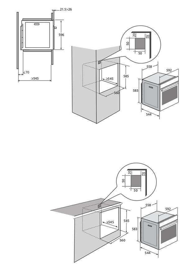 four encastrable brandt bxp633ox inox 4236610 darty. Black Bedroom Furniture Sets. Home Design Ideas
