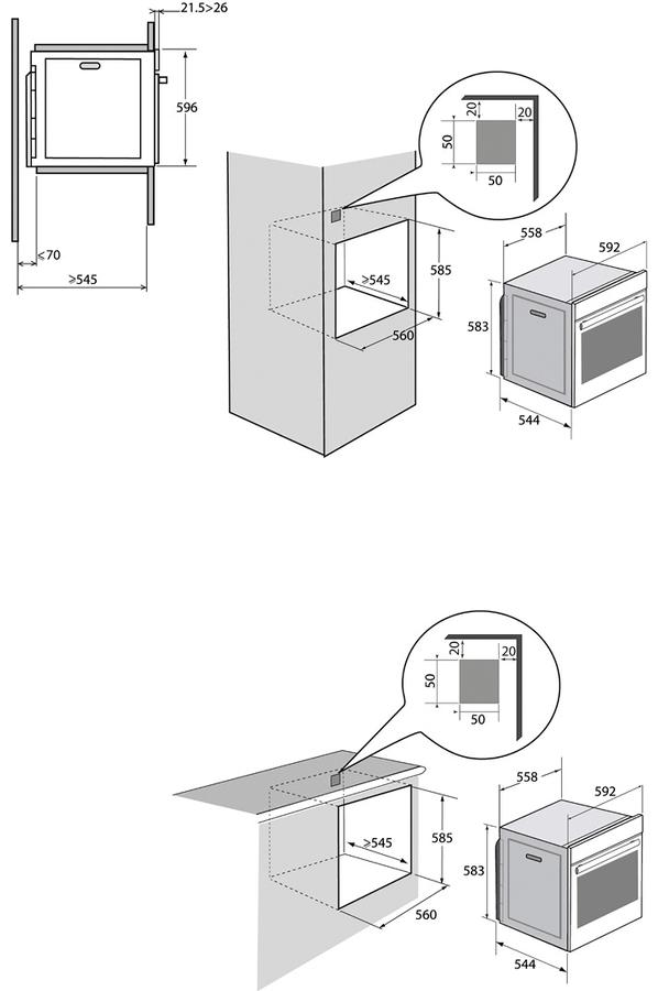 Four encastrable brandt bxp6355x inox 4250923 darty - Darty four multifonction ...