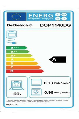 Four encastrable DOP 1140 DG DARK GREY CORIUM De Dietrich