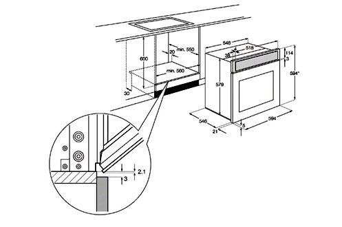 four encastrable electrolux eoc5440bux inox. Black Bedroom Furniture Sets. Home Design Ideas